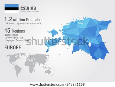 Estonia world map pixel diamond texture stock vector 248971159 estonia world map with a pixel diamond texture world geography gumiabroncs Images