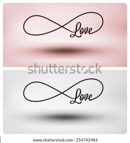 Eternal love symbol - Infinite sign - stock vector