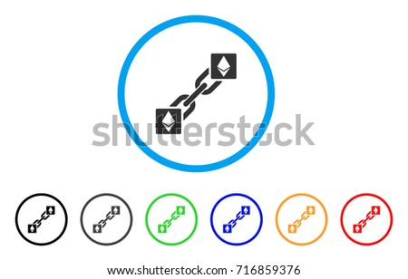 Ethereum Blockchain Icon Vector Illustration Style Is A Flat Iconic Grey Rounded Symbol