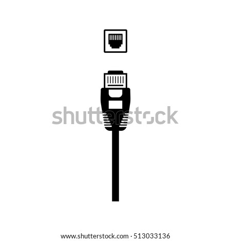 Ethernet Cable Network Port Vector Icon Stock Photo Photo Vector