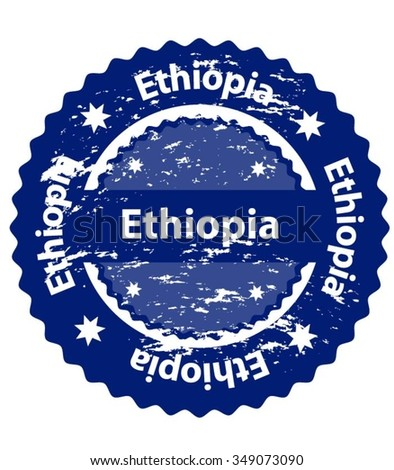 Ethiopia Country Grunge Stamp - stock vector