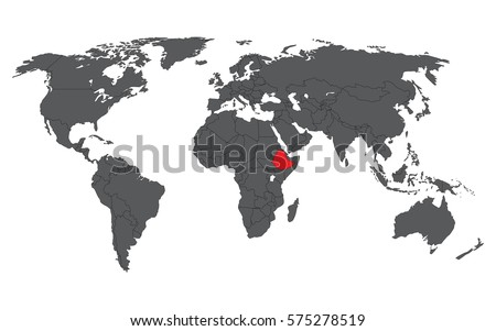Ethiopia red on gray world map stock vector 575278519 shutterstock ethiopia red on gray world map vector gumiabroncs Choice Image
