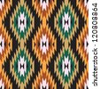 Ethnic abstract geometric pattern ikat ornament - stock photo