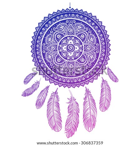 Ethnic american indian dream catcher can stock vector 306837359 ethnic american indian dream catcher can be used as a greeting card m4hsunfo
