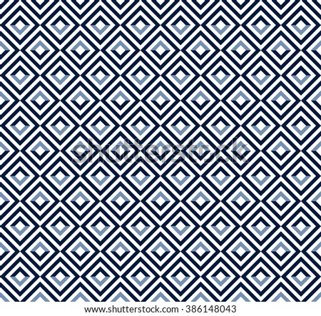 Ethnic background. Abstract monochrome seamless pattern. All over abstract texture. blue and white print.