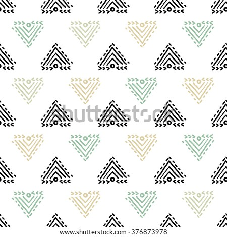 Ethnic background with fgeometric elements. Used for wallpaper, pattern fills, web page background, surface textures. - stock vector