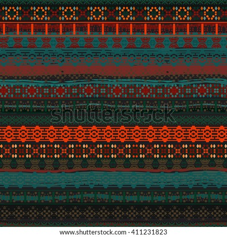 Ethnic boho seamless pattern. Tribal art print, borders pattern. Background texture, wrapping, wallpaper