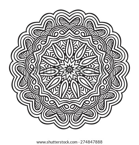 Ethnic decor element.Vector mandala design - stock vector