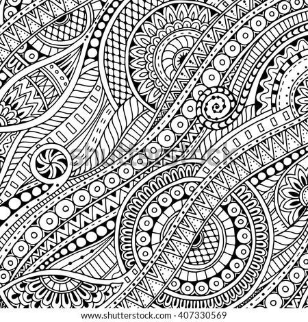 fine line coloring pages - photo#13