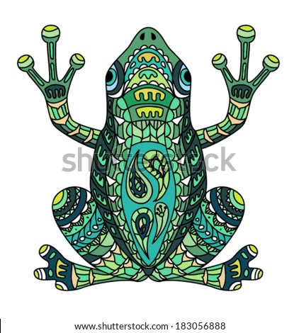 Ethnic frog / african / indian / totem - stock vector