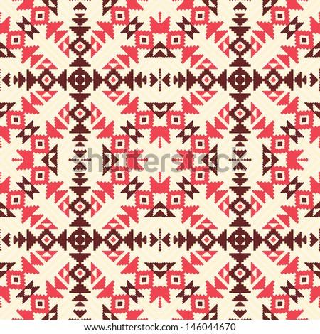 Ethnic geometric seamless pattern - stock vector