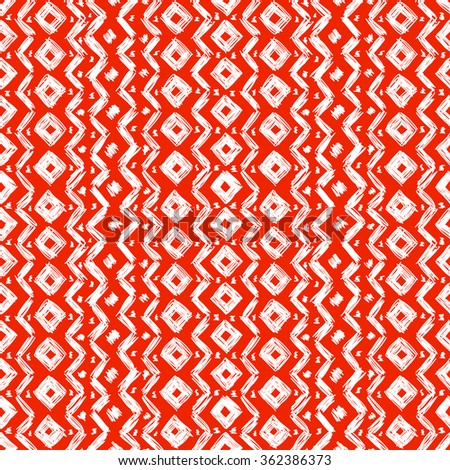 Ethnic geometric seamless pattern. The structure of the traditional folk forms, painted by hand.