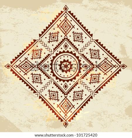 Ethnic ornament - stock vector