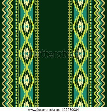 Ethnic ornamental textile seamless pattern - stock vector