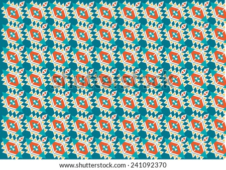 Ethnic pattern background in colorful, vector illustration  - stock vector