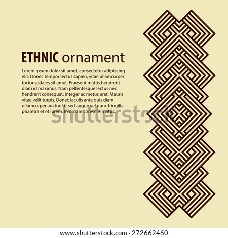 Ethnic pattern cards. Design decor vector element - stock vector