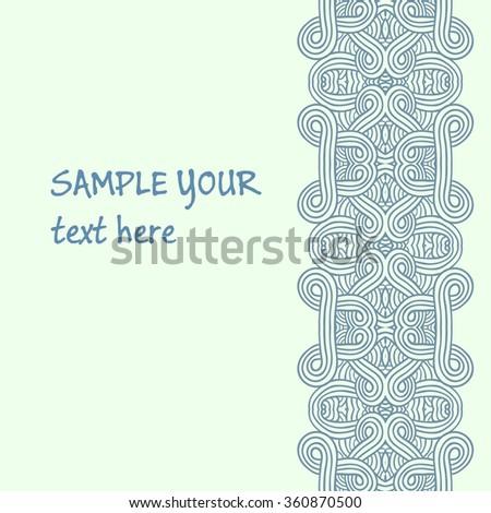 Ethnic pattern cards. Design decor vector element - stock vector