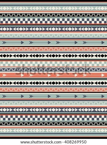 Ethnic pattern design. Navajo geometric print. Vector illustration. Abstract geometric pattern