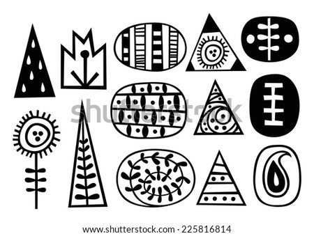Ethnic pattern in black and white with ornamental designs. Texture for web, print, wallpaper, home decor, summer fall fashion textile or fabric, website background, wrapping paper. - stock vector