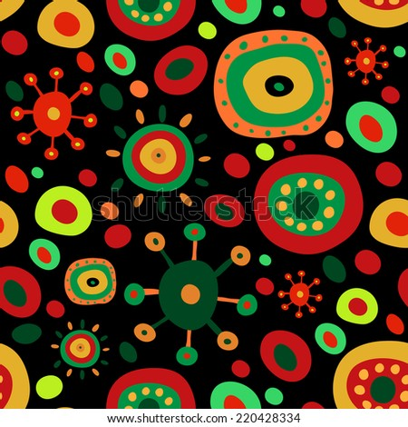 Ethnic pattern with a vivid elements - stock vector