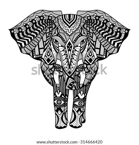 colourful elephant stock images, royalty-free images & vectors ... - Coloring Page Elephant Design