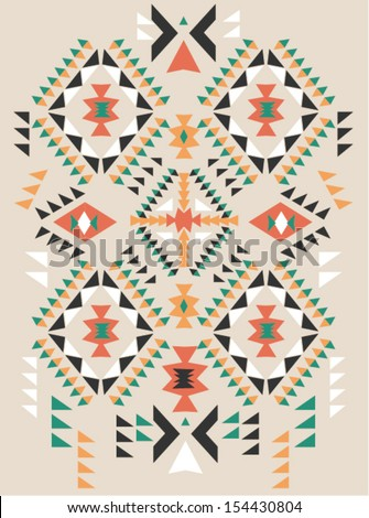 ethnic  print pattern background - stock vector
