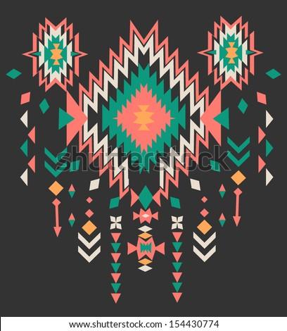 ethnic print vector pattern background - stock vector