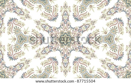Ethnic repeating ornament. Hand drawn. - stock vector