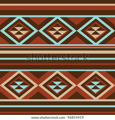 ethnic seamless background. textures in blue and brown  colors - stock vector