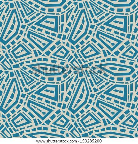 Ethnic seamless background. Vector Illustration.  - stock vector
