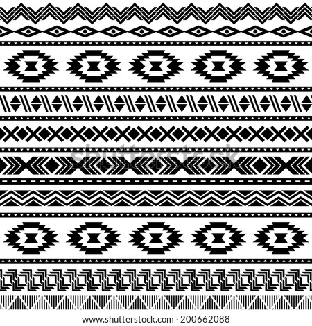 American Indian Pattern Stock Photos  Illustrations  and Vector ArtBlack And White Aztec Pattern Background