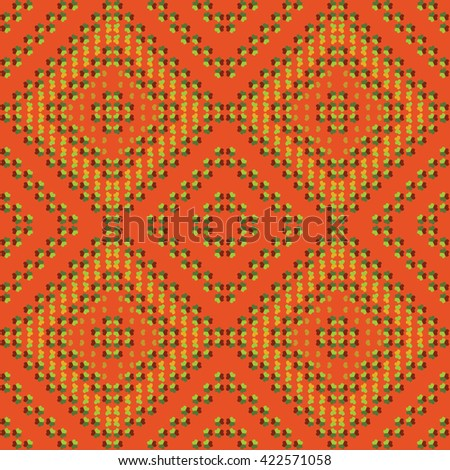 ethnic seamless pattern background in different colors, vector illustration