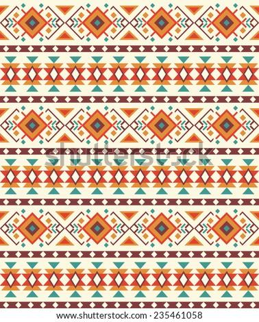 ethnic seamless pattern design. vector illustration - stock vector