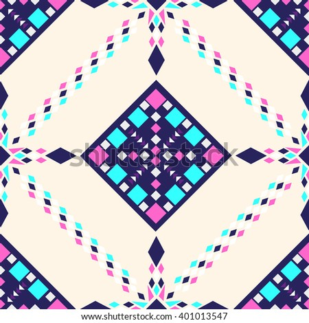 Ethnic seamless pattern. geometric background. Hand drawn fabric. Modern abstract wallpaper. Vector illustration.