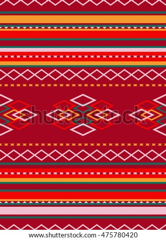 ethnic seamless pattern geometric design. sweater style. vector illustraton background
