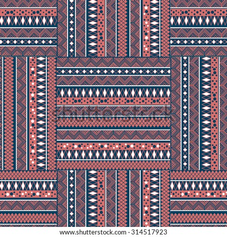 Ethnic  seamless pattern. Tribal art print. Colorful repeating background. Cloth design, wallpaper, wrapping
