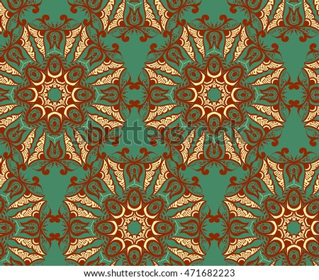 Ethnic seamless pattern. Vector background texture.