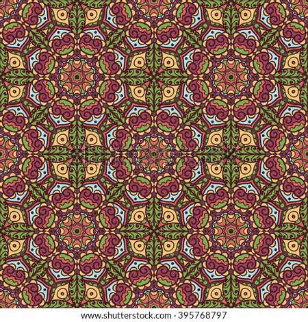 Ethnic seamless pattern. Vector tribal background. Aztec and indian style, vintage print.