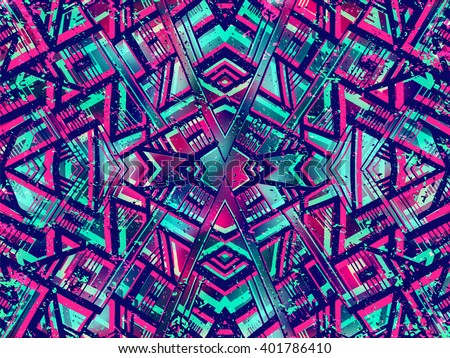 Ethnic style background. Tribal boho summer background. Colorful background. Summer bright colors. Abstract vector can be used for web design, wallpapers, fabric and prints. - stock vector
