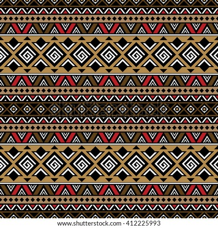 Ethnic style seamless pattern. Boho design. Tribal aztec print template for fabric, paper, wrapping, bags, post cards, phone covers, etc. Aztec pattern.