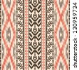 Ethnic textile decorative ornamental striped seamless pattern - stock photo