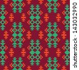 Ethnic textile seamless pattern - stock vector