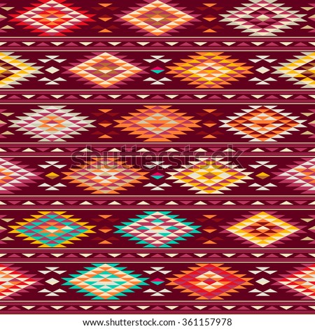 Ethnic traditional native american indian seamless pattern - stock vector