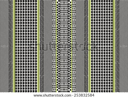 Ethnic,tribal pattern and arabic scarf pattern in bright color - stock vector
