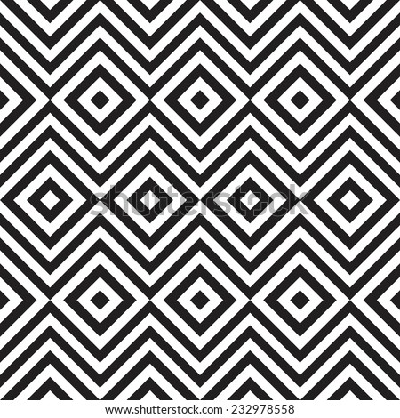 Ethnic tribal zig zag and rhombus seamless pattern. Vector illustration for beauty fashion design. Black white colors. Vintage stripe style. - stock vector
