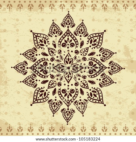Ethnic vintage ornament background - stock vector