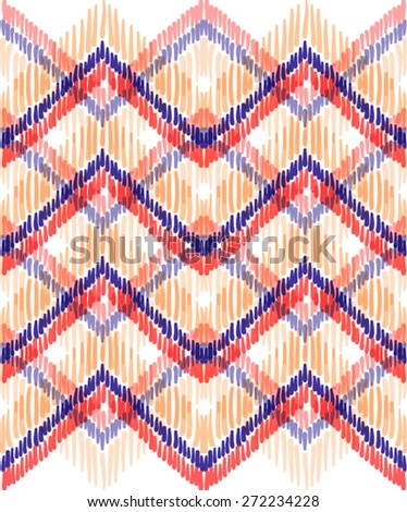 Ethnic zigzag in vector - stock vector