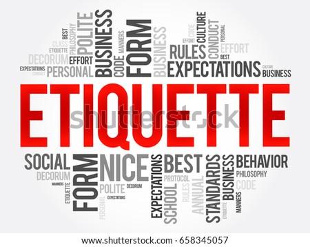 Essay on social etiquette