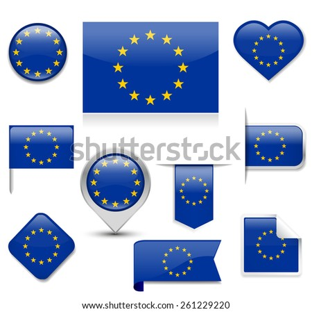 EU Flag Collection - stock vector