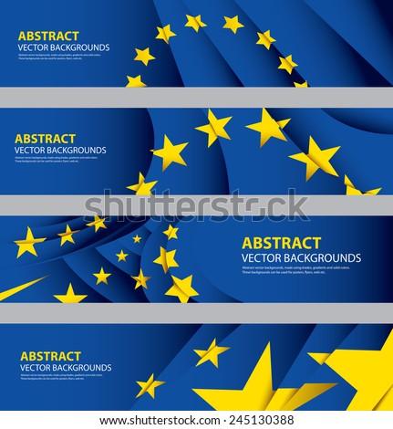 EU Flag Collection, European Union Flag, Europe Symbol (vector Art) - stock vector